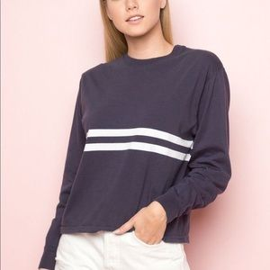 Blue and White Varsity Striped Tee
